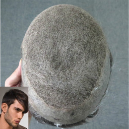 Full Swiss Lace Hair Systems with Thin Skin for Thinning Hair