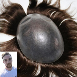 Super Thin Skin Customized Men's Hair Replacement Systems