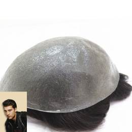 Ultra Thin Skin V-looped Customized Hair Replacement For Men