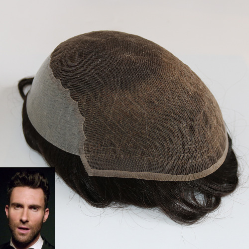 French Lace with Thin Skin Hair Systems for Thinning Hair